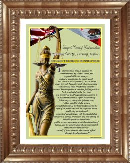 California State Lawyer's Creed GLD2 Prints