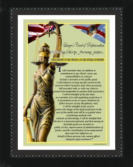 Florida State Lawyer's Creed BLK2 Prints