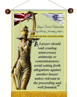 Massachusetts State Lawyer's Creed Banner2