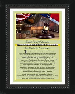 North Carolina State Lawyer's Creed BLK3 Prints