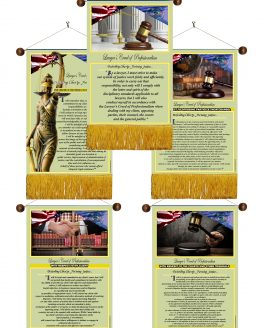 Utah State Lawyer's Creed 1-5 Banners