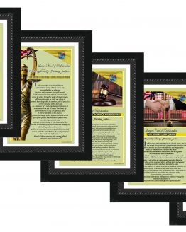 N. Jersey State Lawyer's Creed BLK1-5 Prints
