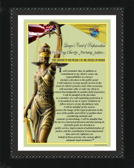 N. Jersey State Lawyer's Creed BLK2 Prints