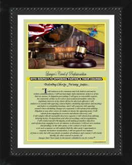N. Jersey State Lawyer's Creed BLK3 Prints
