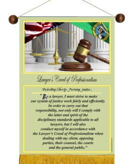 WASHINGTON STATE LAWYER'S CREED BANNER 1