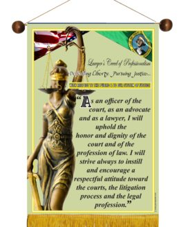 WASHINGTON STATE LAWYER'S CREED BANNER 2