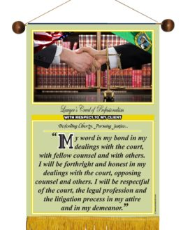 WASHINGTON STATE LAWYER'S CREED BANNER 4