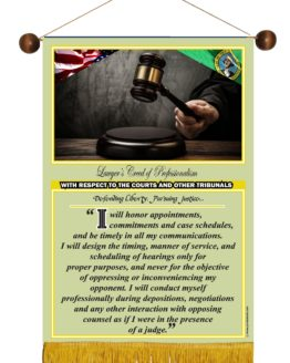 WASHINGTON STATE LAWYER'S CREED BANNER 5